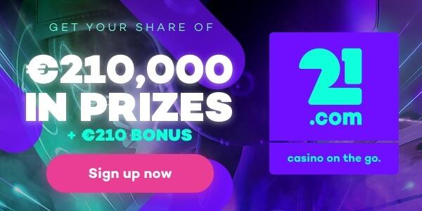 Exclusieve 21.com bonus aanbieding!